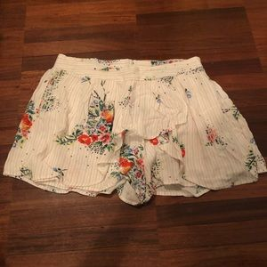 NEW free people floral shorts size XS